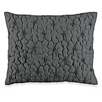 DKNY® Ruffle Wave Petite Fleur Oblong Toss Pillow in Charcoal