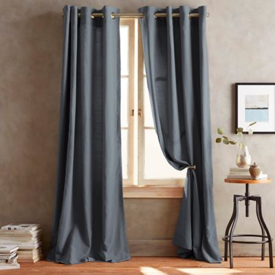 DKNY Duet Grommet 63-Inch Window Curtain Panel in Slate