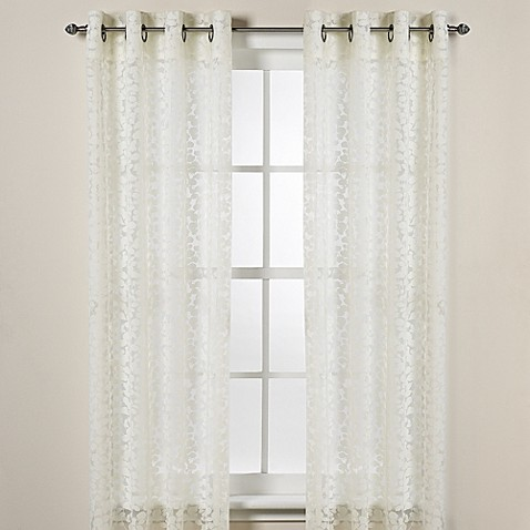 Donna Karan Home Halo Grommet Sheer Window Curtain Panels
