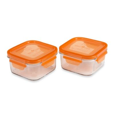 Wean Green® 16-Ounce Lunch Cube in Orange (2-Pack)