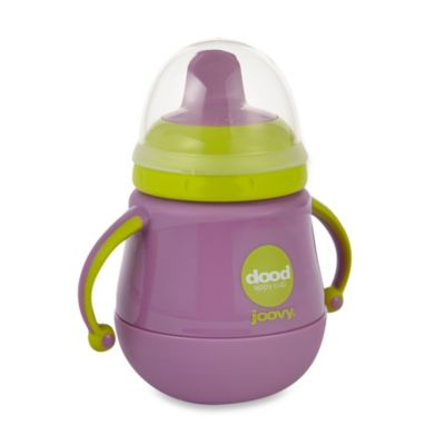 Joovy Dood Sippy Cup 7-Ounce Training Cup with Insulator - Purpleness