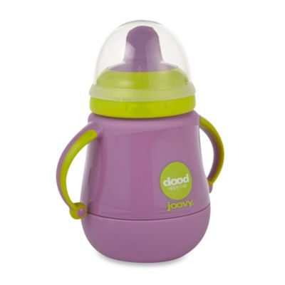 Joovy Dood Sippy Cup 9-Ounce Training Cup with Insulator - Purpleness