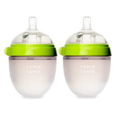 Comotomo™ 5-Ounce Baby Bottles in Green (2-Pack)