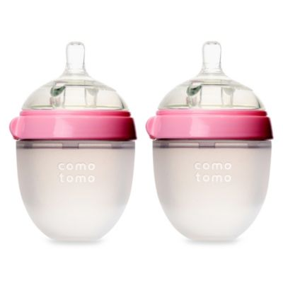 Comotomo™ 5-Ounce Baby Bottles in Pink (2-Pack)