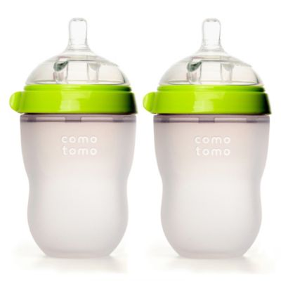 Comotomo™ 8-Ounce Baby Bottles in Green (2-Pack)