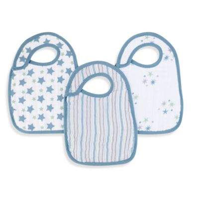 aden® by aden + anais® 3-Pack Bib Set in Prince Charming