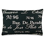Vintage House Brasserie 12-Inch x 18-Inch Decorative Pillow in Black/Natural