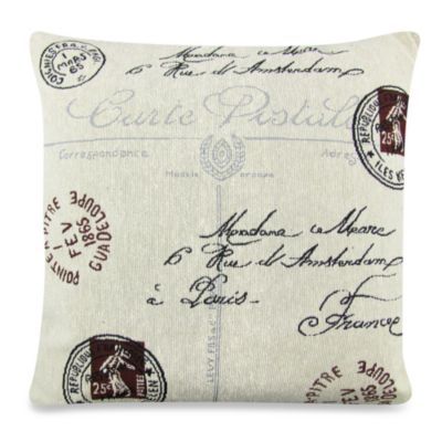 Park B. Smith® Vintage House Postale 18-Inch Square Throw Pillow in Natural/Black