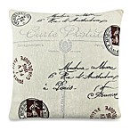 Park B. Smith® Vintage House Postale 18-Inch Square Toss Pillow in Natural/Black
