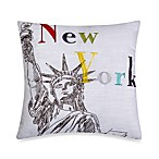 New York Square Toss Pillow