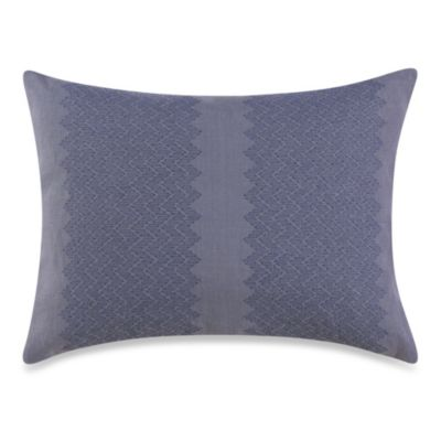 Vera Wang Trailing Vines Oblong Toss Pillow in Periwinkle