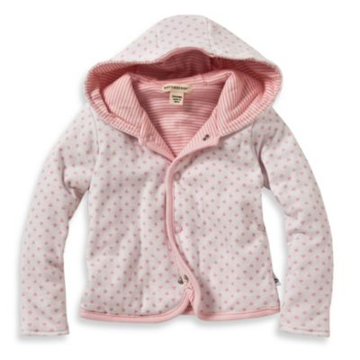 Burt's Bees Baby™ Dottie Bee Hooded Jacket in Pink