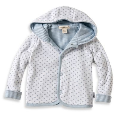 Burt's Bees Baby™ Dottie Bee Hooded Jacket in Blue
