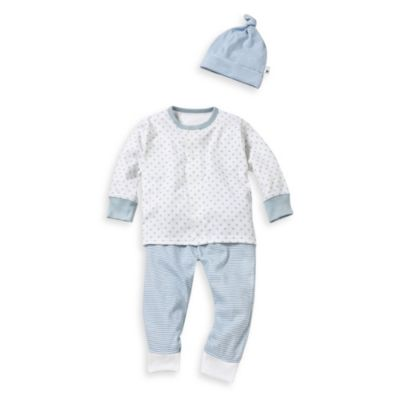 Burt's Bees Baby™ Dottie Bee 3-Piece Set in Blue Stripe