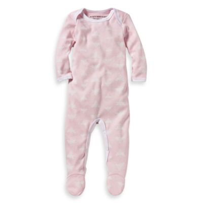 Burt's Bees Baby™ Organic Cotton Cloud Bee Ruffle Coverall in Pink