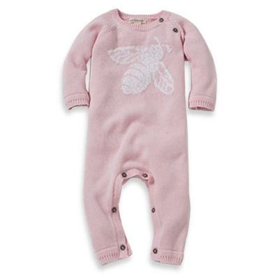 Burt's Bees Baby™ Jacquard Bee Sweater Coverall in Pink