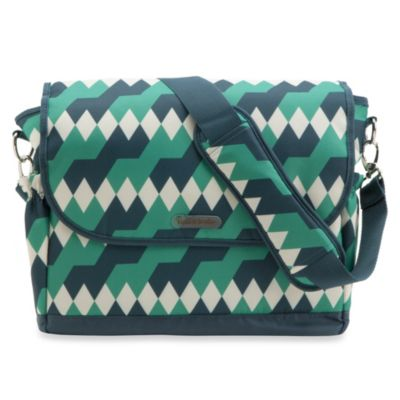timi & leslie® 2013 Emerald Lagoon Messenger Diaper Bag