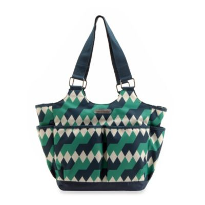 timi & leslie® Tag-A-Long Emerald Lagoon Tote Diaper Bag