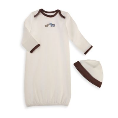 Little Me® Cute Puppies Gown in Ivory