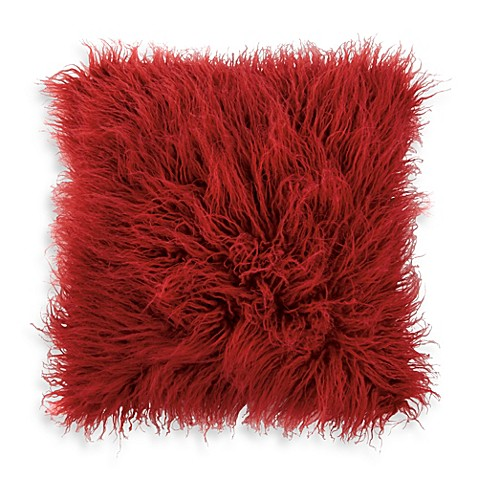 DKNY Washed Stripe Faux-Fur Square Toss Pillow
