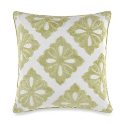 Real Simple® Linear Square Throw Pillow in Green
