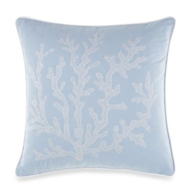 Real Simple® Linear Square Toss Pillow in Blue