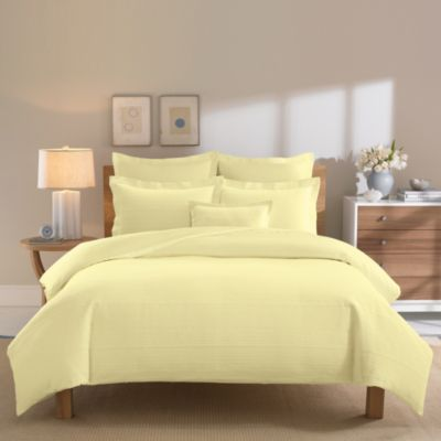 Real Simple® Linear Full/Queen Duvet Cover - Yellow