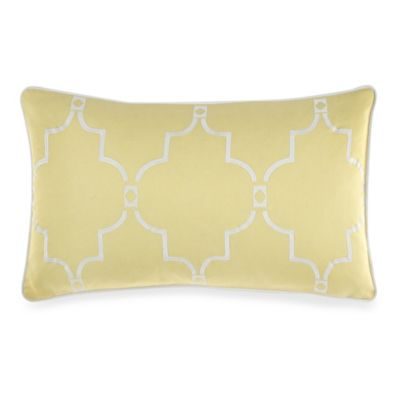 Real Simple® Linear Oblong Toss Pillow in Yellow