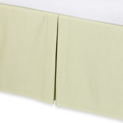 Real Simple® Linear California King Bed Skirt in Green