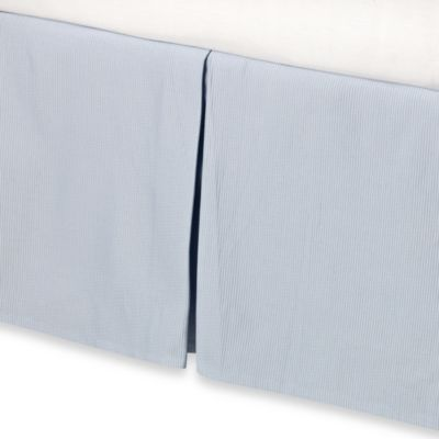 Real Simple® Linear Blue Bed Skirt