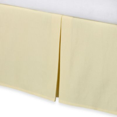 Real Simple® Linear Yellow Bed Skirt