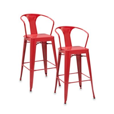 Amelia Cafe Barstools in Galvanized