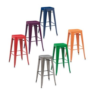 Buy Crosley Amelia Caf 233 30 Inch Backless Barstools In Blue