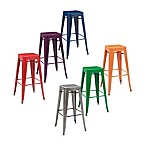 Crosley Amelia Café 30-Inch Backless Bar Stools (Set of 2)