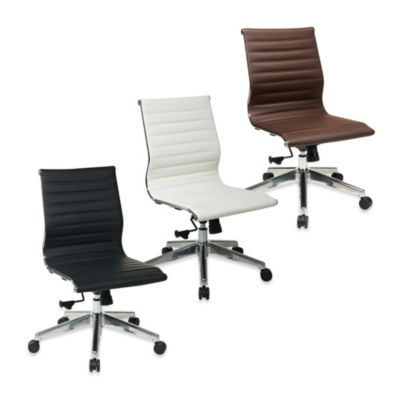 Office Star Products Mid-Back Chair Without Arms