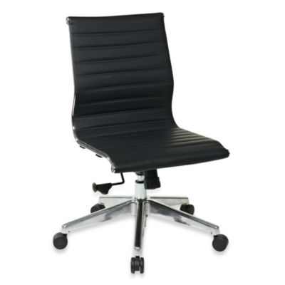 Office Star® Products Mid-Back Chair Without Arms in Black