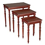 Bombay® Lindsey Nesting Table Trio in Cherry