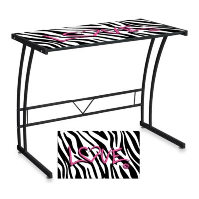LumiSource Zebra Love Office Desk