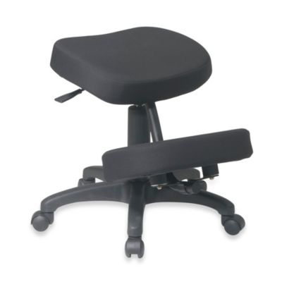Office Star Work Smart Ergonomically Designed Memory Foam Knee Chair in Black
