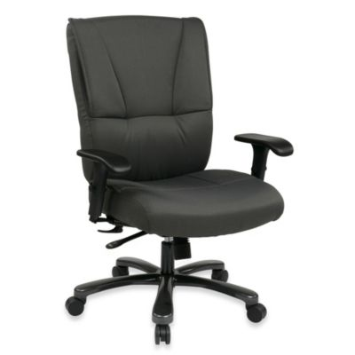 Office Star Products Big & Tall Executive Chair in Grey