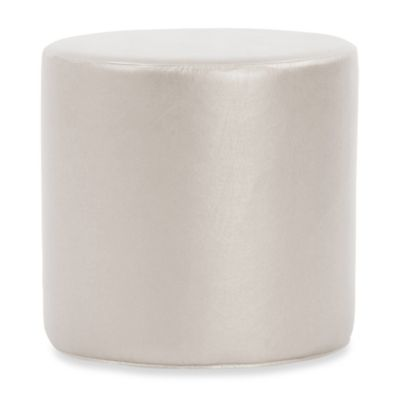 Howard Elliott® No Tip Cylinder Ottoman in Mercury Shimmer