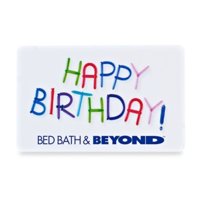 Happy Birthday Letters Gift Card $200.00