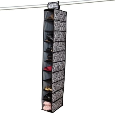 The Laura Ashley® Collection 10-Shelf Hanging Closet Organizer in Delancy