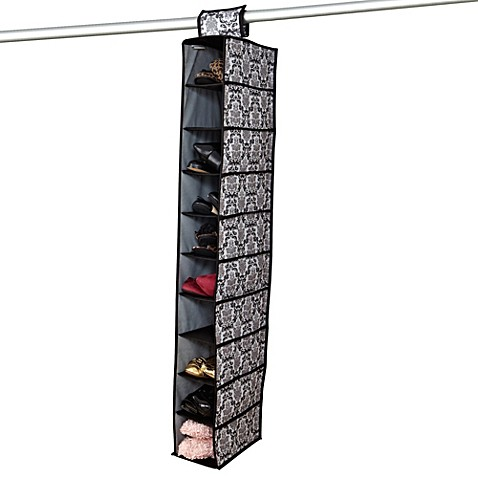 The Laura Ashley® Collection 10-Shoe Hanging Organizer in Delancy