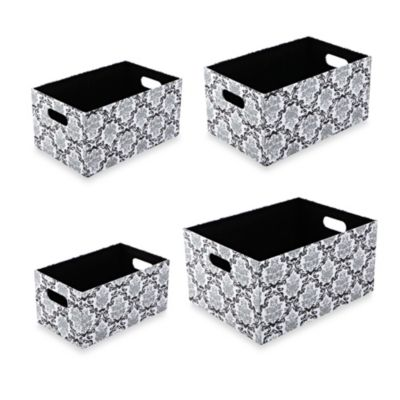 The Laura Ashley® Collection Storage Box (Set of 4) in Delancy