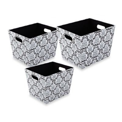 The Laura Ashley® Collection Storage Box (Set of 3) in Delancy