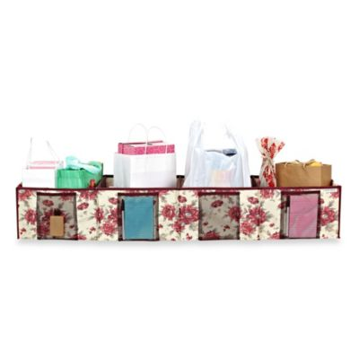 The Laura Ashley® Collection 4 Compartment Trunk Shopping Organizer in Milner Cranberry