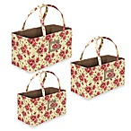 The Laura Ashley® Collection 3-Piece Nested Storage Totes with Handle in Milner