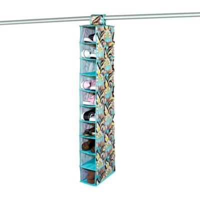 The Macbeth Collection 10-Shelf Hanging Organizer in Serenea Cappuccino