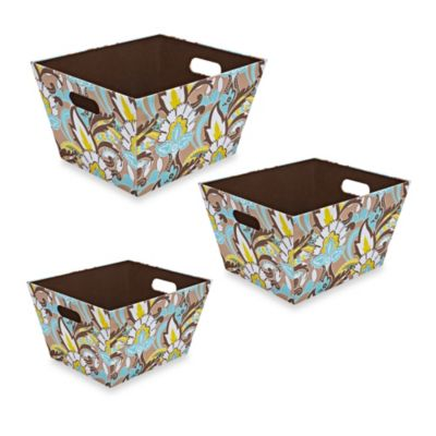 The Macbeth Collection Serena Cappuccino Nested Totes (Set of 3)